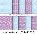 seamless pattern set in arabic...   Shutterstock .eps vector #1054642856