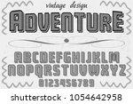 font alphabet typeface vector...   Shutterstock .eps vector #1054642958