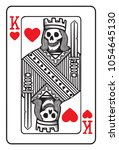 king of hearts playing card... | Shutterstock .eps vector #1054645130