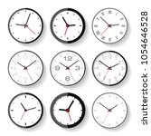 set of different clock icons in ... | Shutterstock .eps vector #1054646528