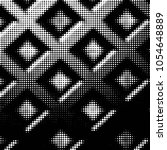 abstract grunge grid polka dot... | Shutterstock .eps vector #1054648889