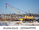 construction machinery on the... | Shutterstock . vector #1054649990