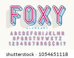 condensed display font popart... | Shutterstock .eps vector #1054651118