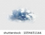 vector realistic isolated cloud ... | Shutterstock .eps vector #1054651166