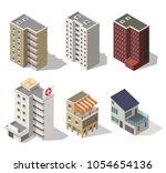 big set low poly vectors of... | Shutterstock .eps vector #1054654136
