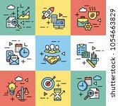 team work  coworking... | Shutterstock .eps vector #1054663829