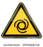 warning of automatic start up...   Shutterstock . vector #1054668116