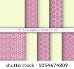 seamless pattern set in arabic...   Shutterstock .eps vector #1054674809
