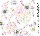 vector botanical seamless... | Shutterstock .eps vector #1054676960