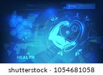 abstract technological health... | Shutterstock .eps vector #1054681058