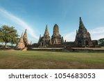 wat chaiwatthanaram ayuthaya... | Shutterstock . vector #1054683053