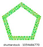 contour pentagon collage of...   Shutterstock .eps vector #1054686770