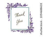 thank you lavender card   Shutterstock .eps vector #1054688633
