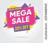 super sale  mega sale  sale... | Shutterstock .eps vector #1054688960