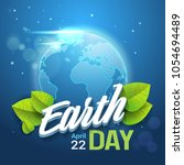 earth day background happy... | Shutterstock .eps vector #1054694489