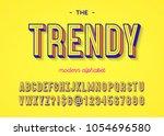 font trendy colorful 3d... | Shutterstock .eps vector #1054696580