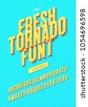 vector fresh tornado font... | Shutterstock .eps vector #1054696598