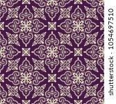 vector damask seamless pattern | Shutterstock .eps vector #1054697510