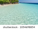 beautiful beach  seascape clear ... | Shutterstock . vector #1054698854