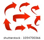vector illustration set of red... | Shutterstock .eps vector #1054700366