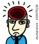 brainless man - stock vector