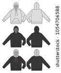 hood hoodie fashion vector... | Shutterstock .eps vector #1054706588