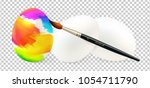 easter egg painting by... | Shutterstock .eps vector #1054711790