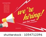 we are hiring banner layout... | Shutterstock .eps vector #1054712396