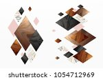 gold  rose gold  black and... | Shutterstock .eps vector #1054712969