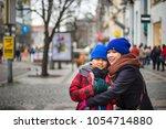 prague  czech republic   march... | Shutterstock . vector #1054714880