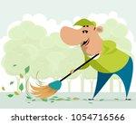 vector illustration of janitor...   Shutterstock .eps vector #1054716566