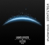 abstract light effect. curved... | Shutterstock .eps vector #1054717814