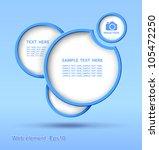 web element design  vector ... | Shutterstock .eps vector #105472250