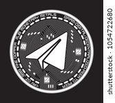 crypto currency white coin with ... | Shutterstock .eps vector #1054722680