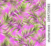 seamless pattern of a tropical...   Shutterstock .eps vector #1054725083