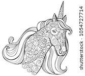 zentangle stylized cartoon... | Shutterstock .eps vector #1054727714