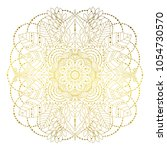 floral golden mandala with... | Shutterstock .eps vector #1054730570