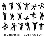 person basic body language... | Shutterstock .eps vector #1054733609