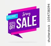 spring sale exclusive offer...   Shutterstock .eps vector #1054738394