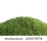Grassy Hill Isolated On White...