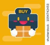 cute character. buy button...   Shutterstock .eps vector #1054742453