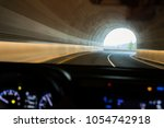 driving a car view on the road  | Shutterstock . vector #1054742918