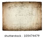 vintage paper isolated | Shutterstock . vector #105474479