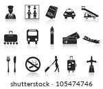 black airport icons set | Shutterstock .eps vector #105474746