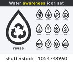 save water awareness icon set.... | Shutterstock .eps vector #1054748960