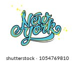 new york text design  | Shutterstock .eps vector #1054769810