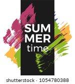 summer time vector poster... | Shutterstock .eps vector #1054780388