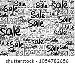 sale word cloud collage ... | Shutterstock . vector #1054782656