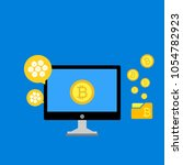 blockhain scheme  mining crypto ... | Shutterstock .eps vector #1054782923