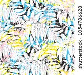 bold abstract jungle print with ...   Shutterstock .eps vector #1054786628